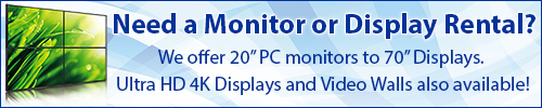 Nationwide HD Display Rentals Delivered Locally from Rentacomputer!