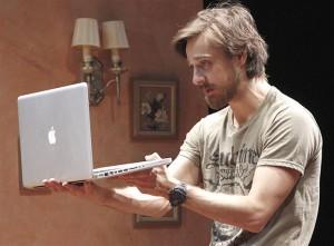 A Macbook Pro At The Cincinnati Playhouse in the Park!