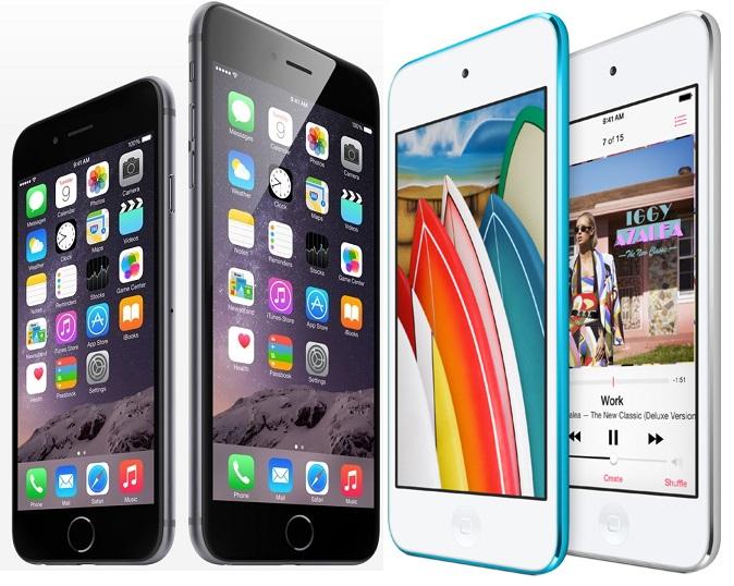 iphones vs touch