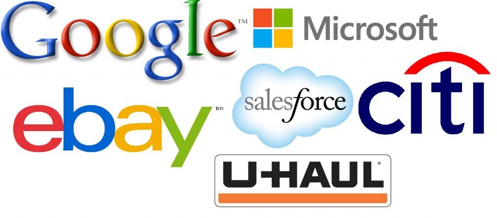 google, microsoft, ebay, salesforce, citi, uhual