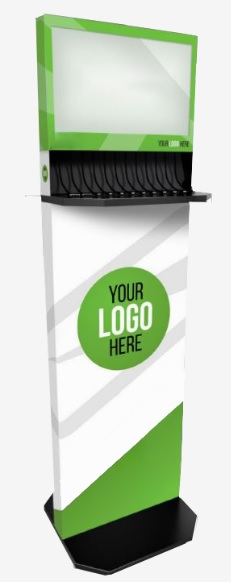 Charging stations, kiosks, tables