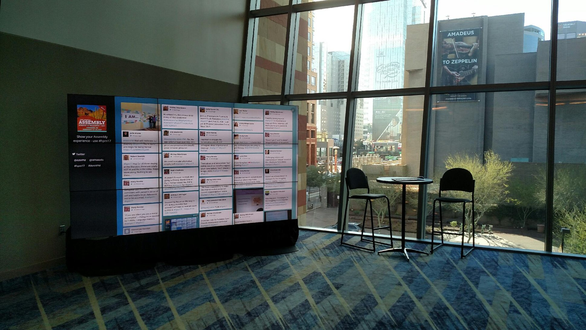 Video Wall for Social Media