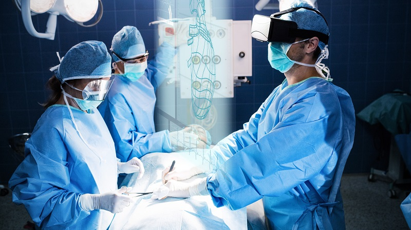 Virtual reality during surgery