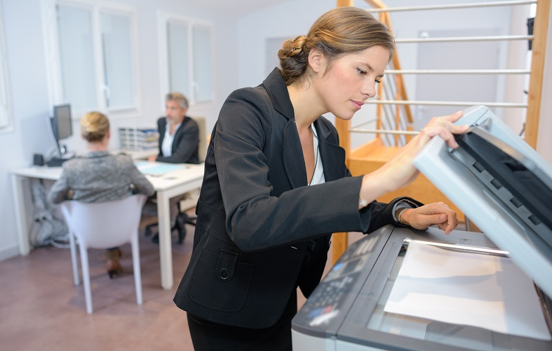 Lawyer using a copier