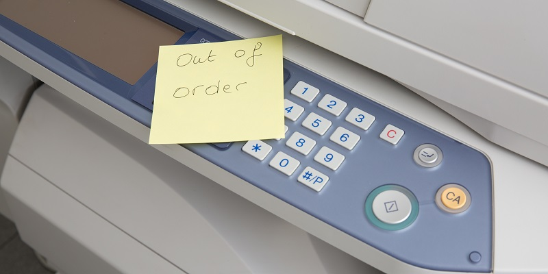 Copier out of order