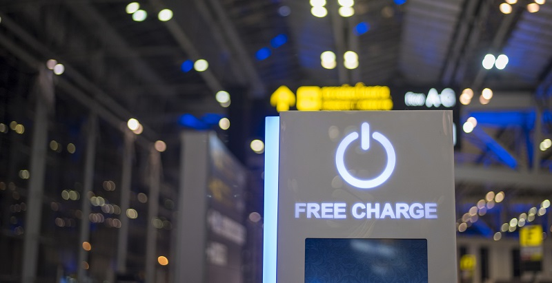 free charge station for mobile phone or laptop