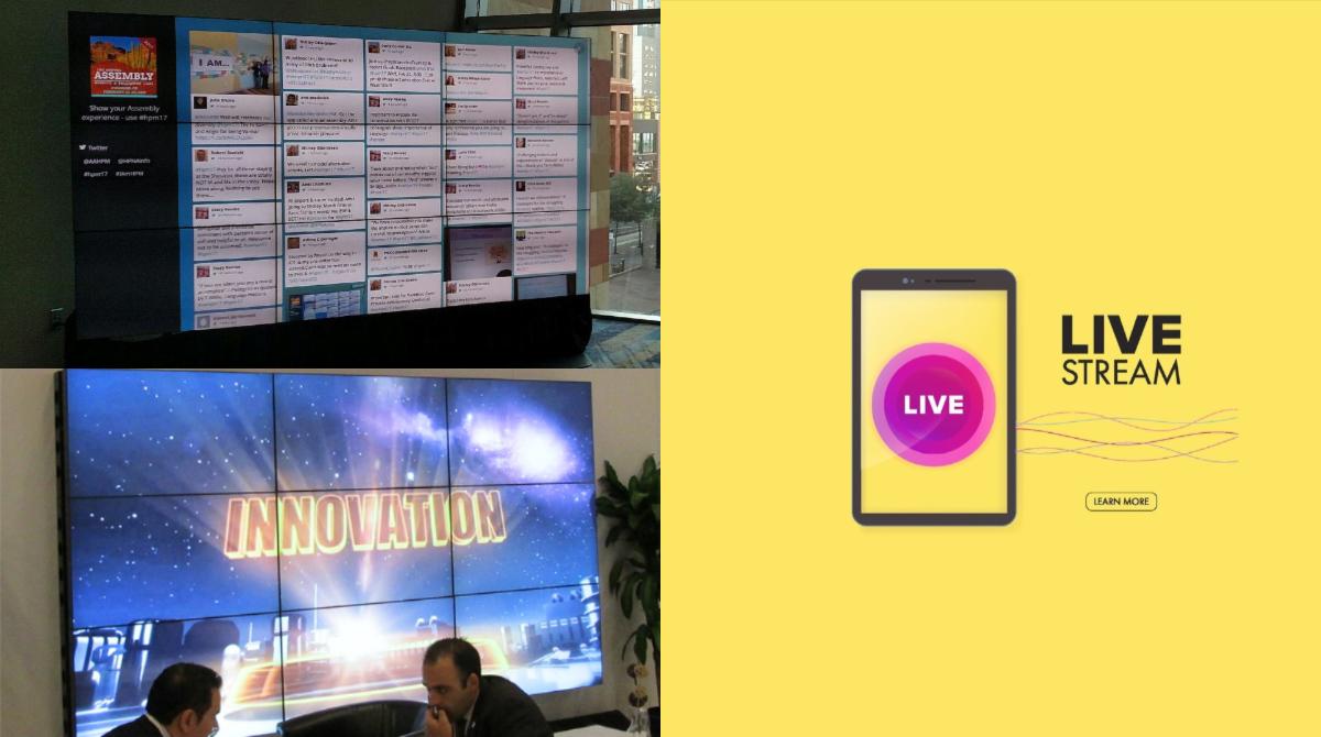 social media wall live feed