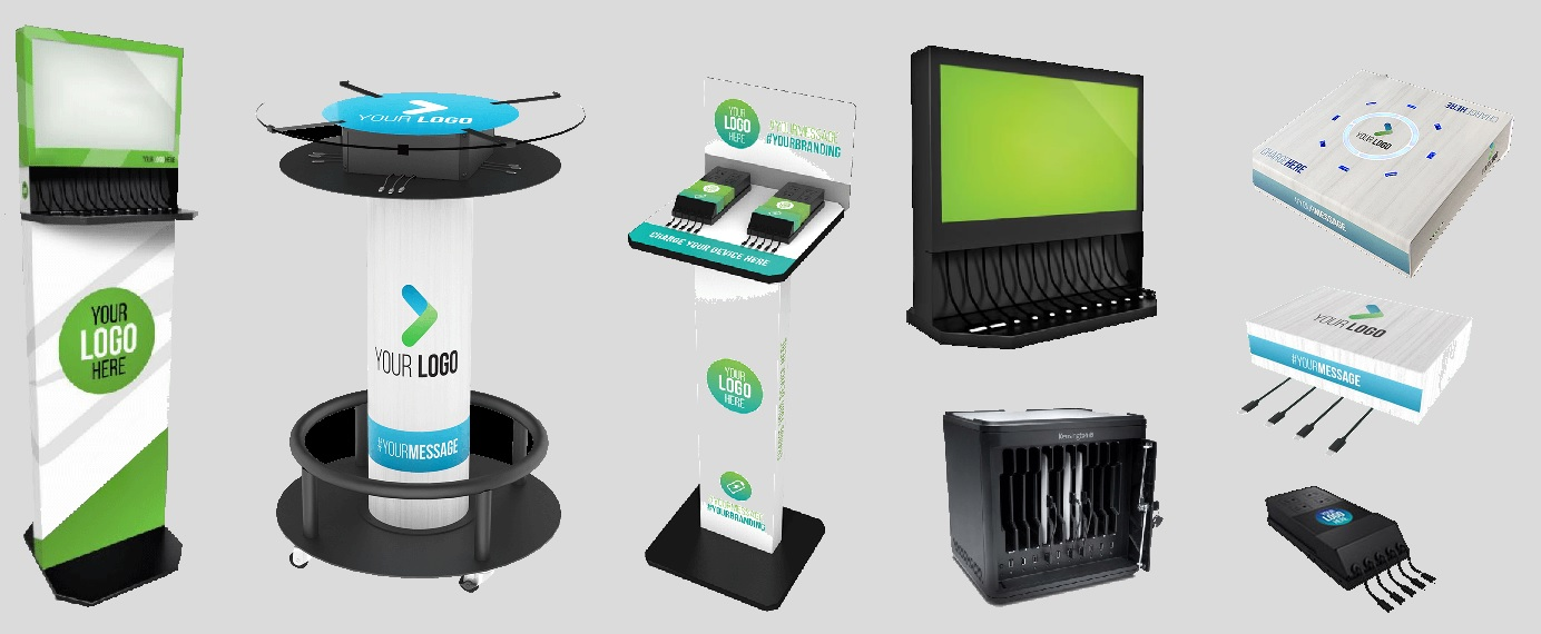 Charging stations for mobile devices