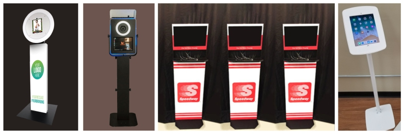 Charing station rentals pair well with tablet kiosks, and are great for creating branded event experiences.