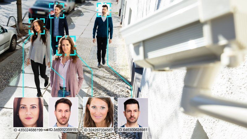 Security camera rentals identifying attendees via facial recognition software