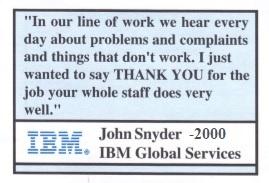 Testimonial IBM 2000