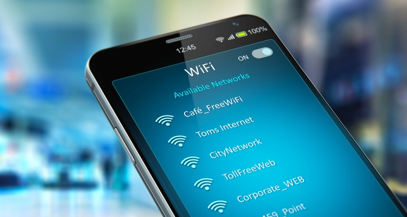 Wifi hotspots on a smartphone rental