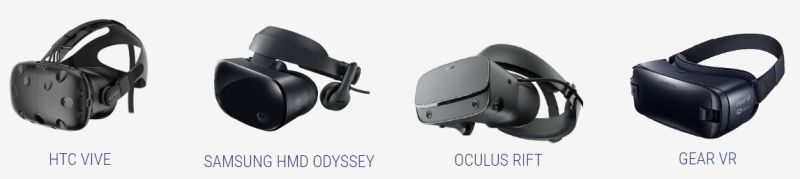 virtual reality headset selection from rentacomputer.com