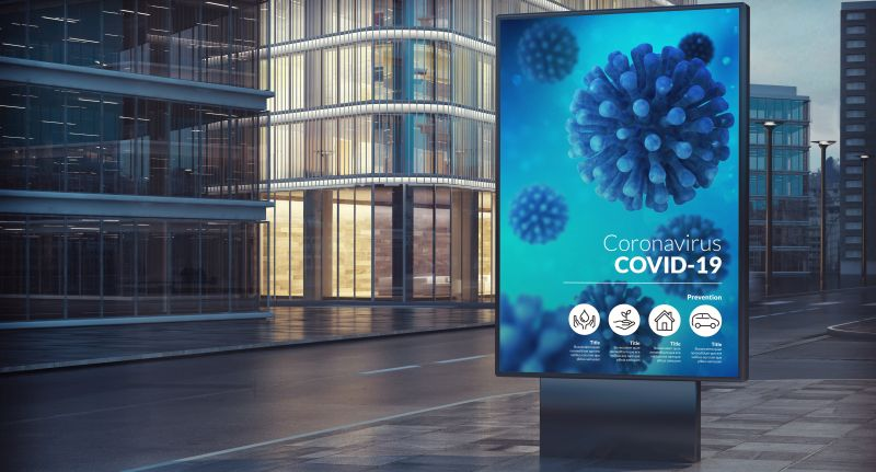 Coronavirus billboard event