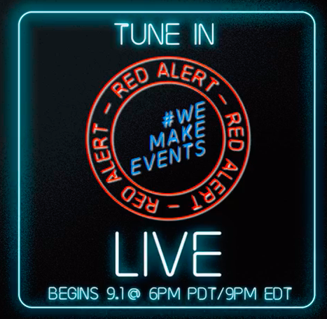 s the buildings light up across the country, the thousands of people following this event on social media—4,000 followers and 625,000 people reached— are invited to watch RED ALERT LIVE, which will stream live from 9pm-1am Eastern time on Facebook at https://www.facebook.com/WeMakeEventsNorthAmerica; and on YouTube at https://bit.ly/2YLqhre.