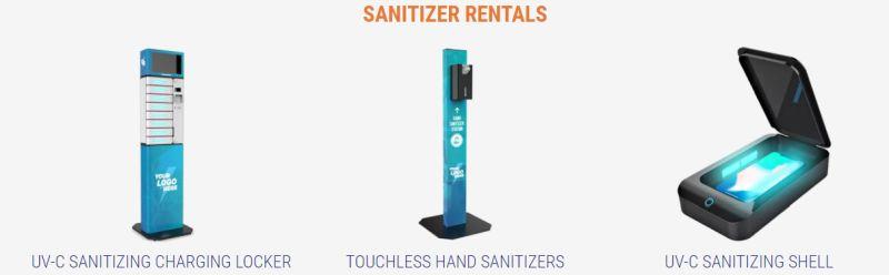 rent sanitizer stations
